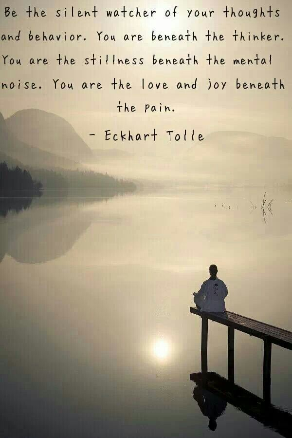 Picture quote by Eckhart Tolle about thoughts