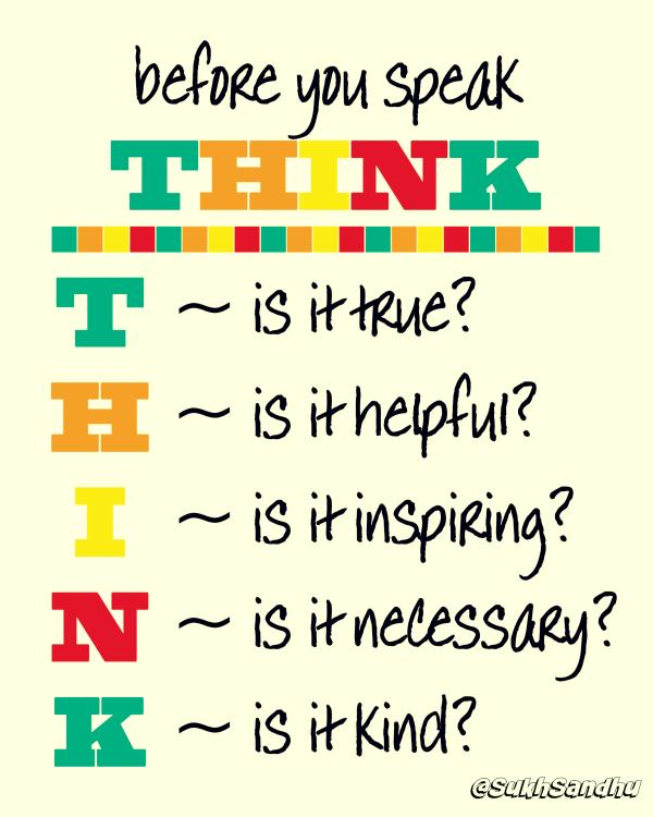 Before You Speak Think Sayings Thinking Image