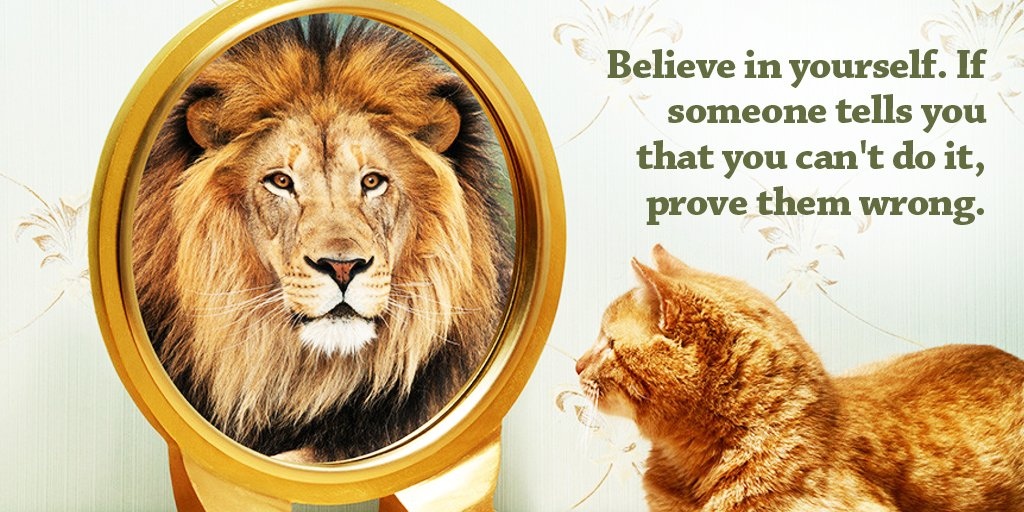 Believe in yourself. If someone tells you that you can't do it, prove them wrong.