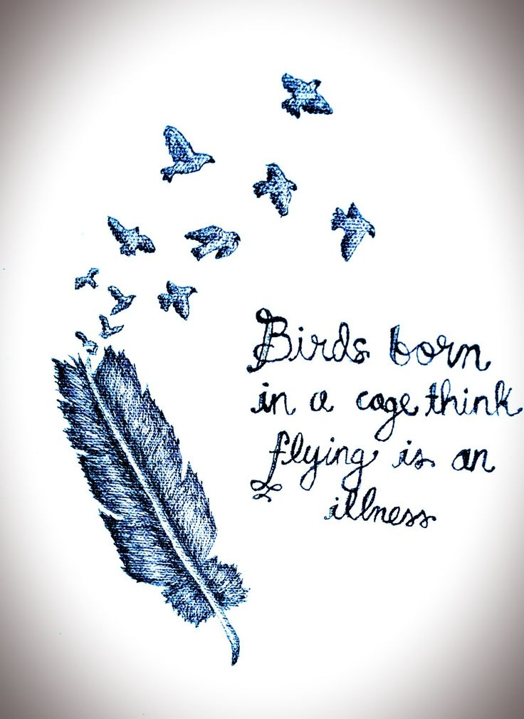 Birds born in a cage think flying is an illness. -