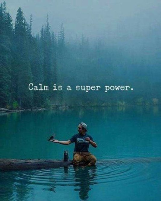 Powerful quote Calm is a super power.