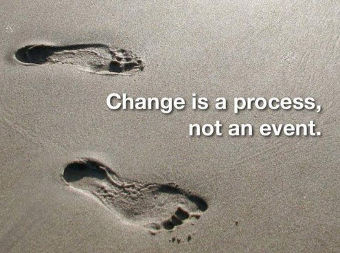 Systems and processes quote Change is a process, not an event.