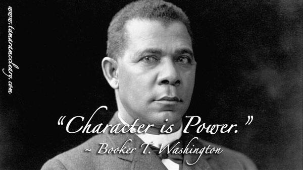 Picture quote by Booker T. Washington about power
