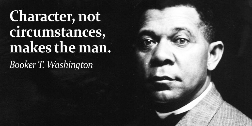 Person image quote by Booker T. Washington