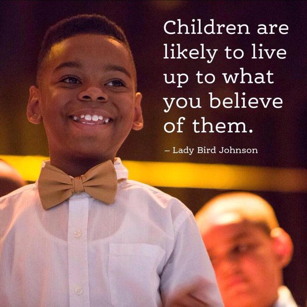Lady Bird Johnson quote Children are likely to live up to what you believe of them.
