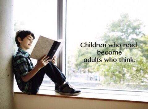 Children reading quote Children who read, become adults who think.