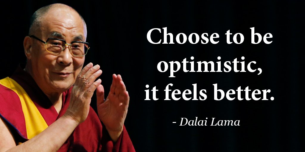 Freedom to choose quote Choose to be optimistic, it feels better.