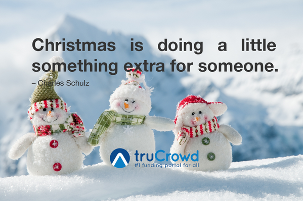 Christmas holiday greetings quote Christmas is doing a little something extra for someone.