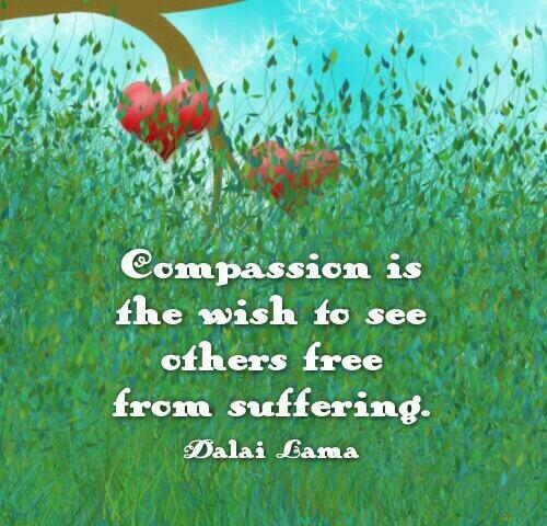 Picture quote by Dalai Lama about compassion