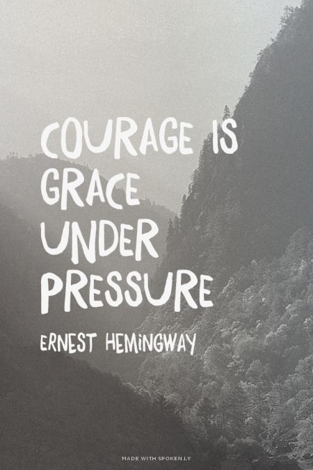 Picture quote by Ernest Hemingway about courage