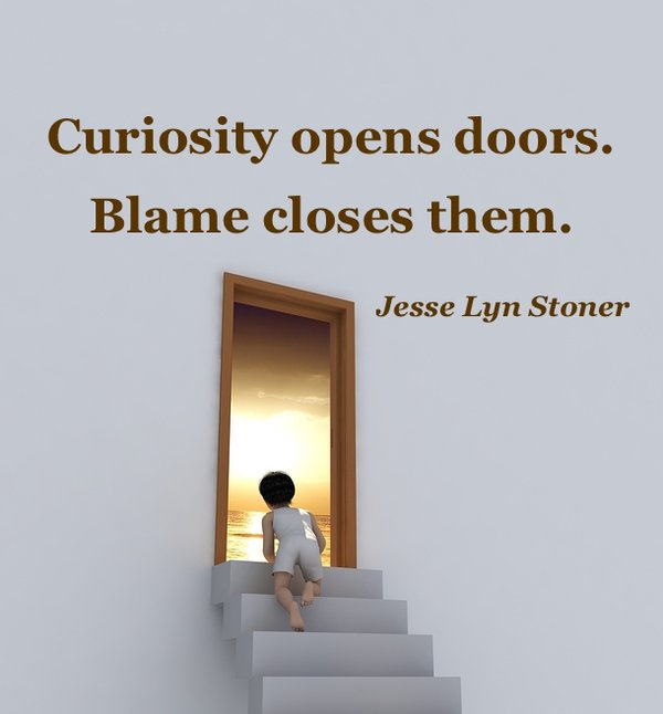 Blame quote Curiosity opens doors. Blame closes them.