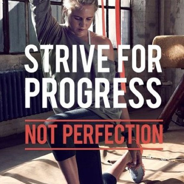 Striving quote Strive for progress not prefection