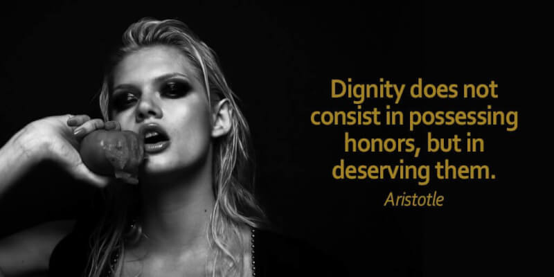 Serve quote Dignity does not consist in possessing honors, but in deserving them.