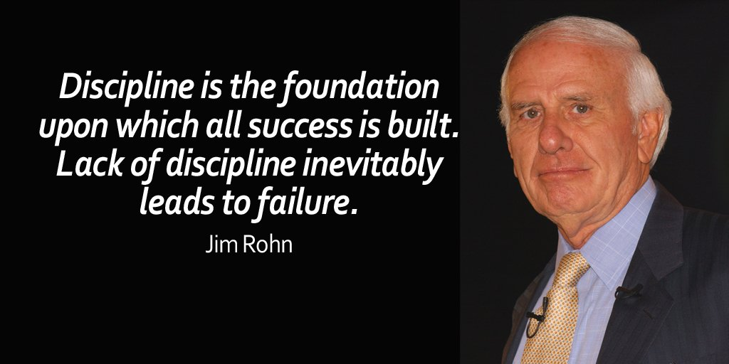 Lack quote Discipline is the foundation upon which all success is built. Lack of discipline