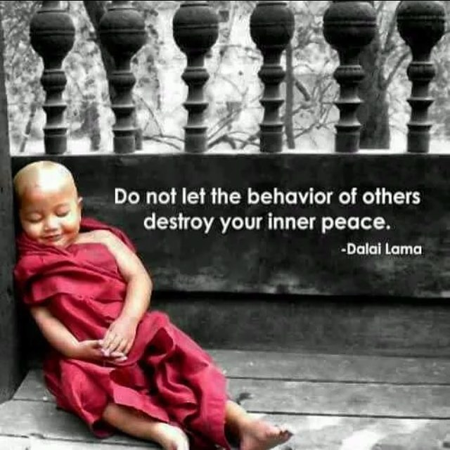 Destroy quote Do not let the behavior of others destroy your inner peace.