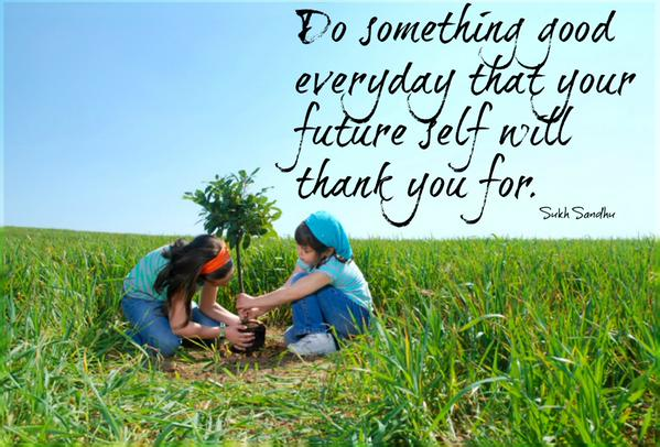 Every Day Do Something That Will Inch: Do Something Good Every Day That Your Future Self