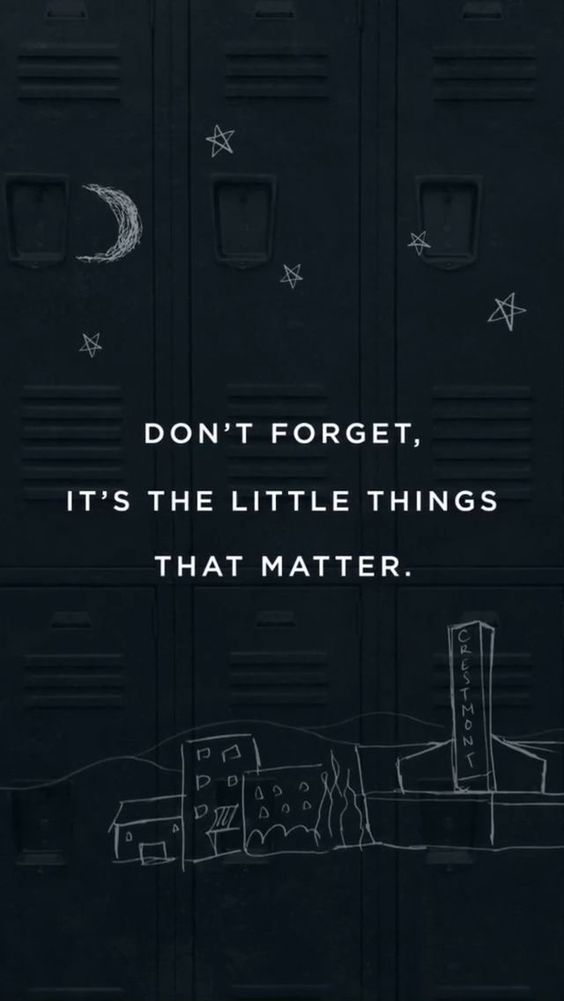 Dont Forget Its The Little Things That Mat Sayings Image