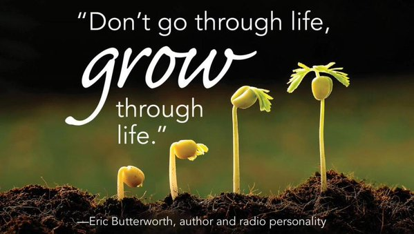 Eric Butterworth quote Don't go through life, grow through life.