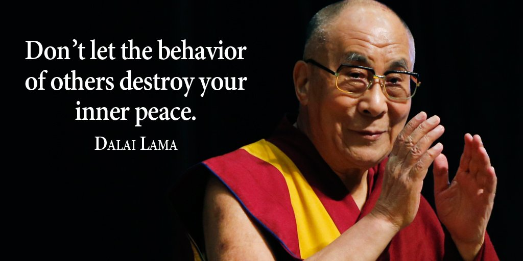 Destroy quote Don't let the behavior of others destroy your inner peace.