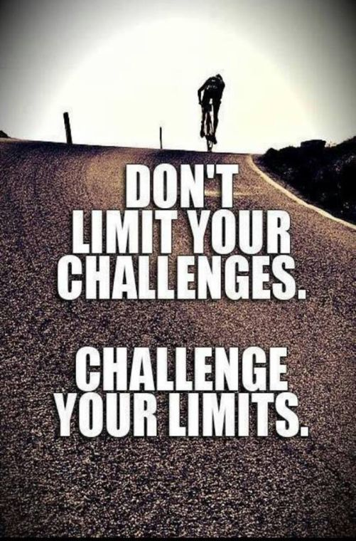 Challenged quote Don't limit your challenges. Challenge your limits.
