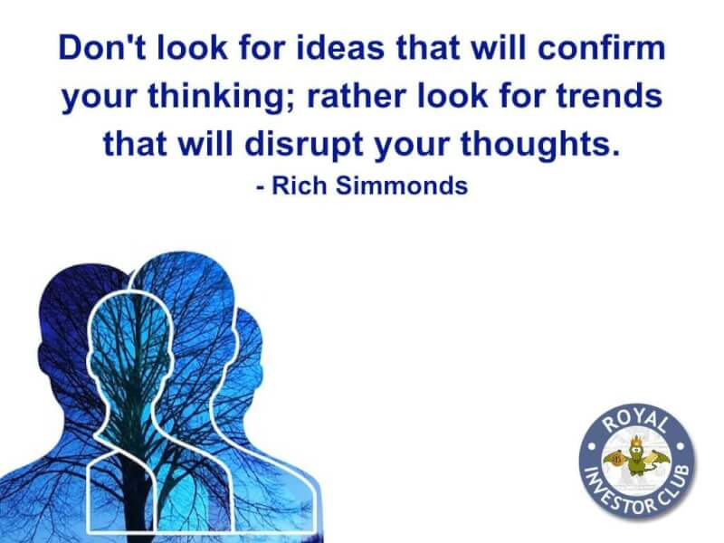 King quote Don't look for ideas that will confirm your thinking; rather look for trends tha