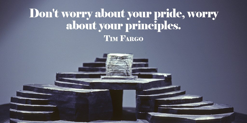 Pride quote Don't worry about your pride, worry about your principles.