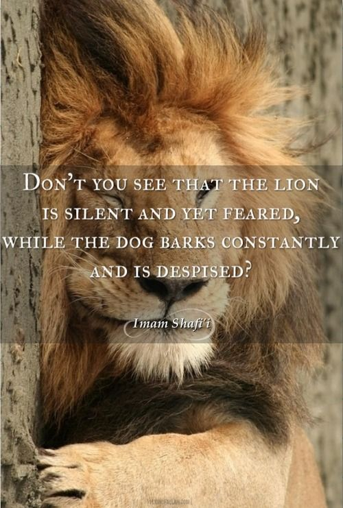 Dont You See That The Lion Is Silent And Yet Imam Shafii Image