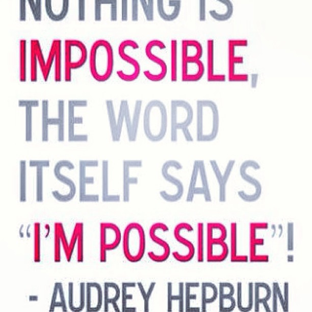 Picture quote by Audrey Hepburn about determination