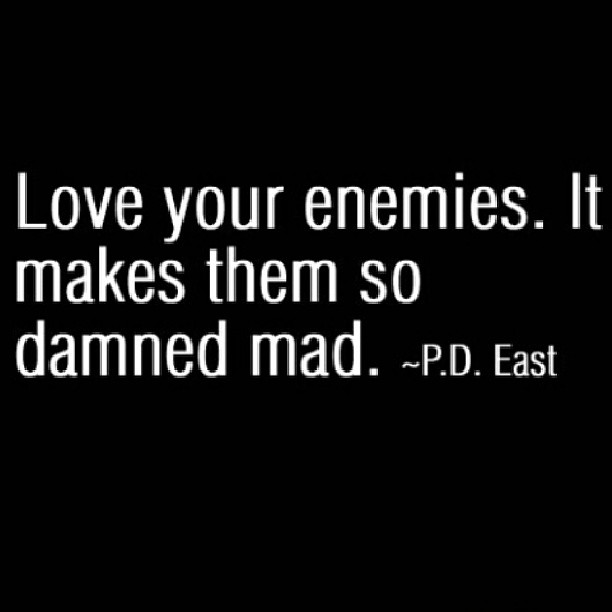 Making love quote Love your enemies. It makes them so damned mad.