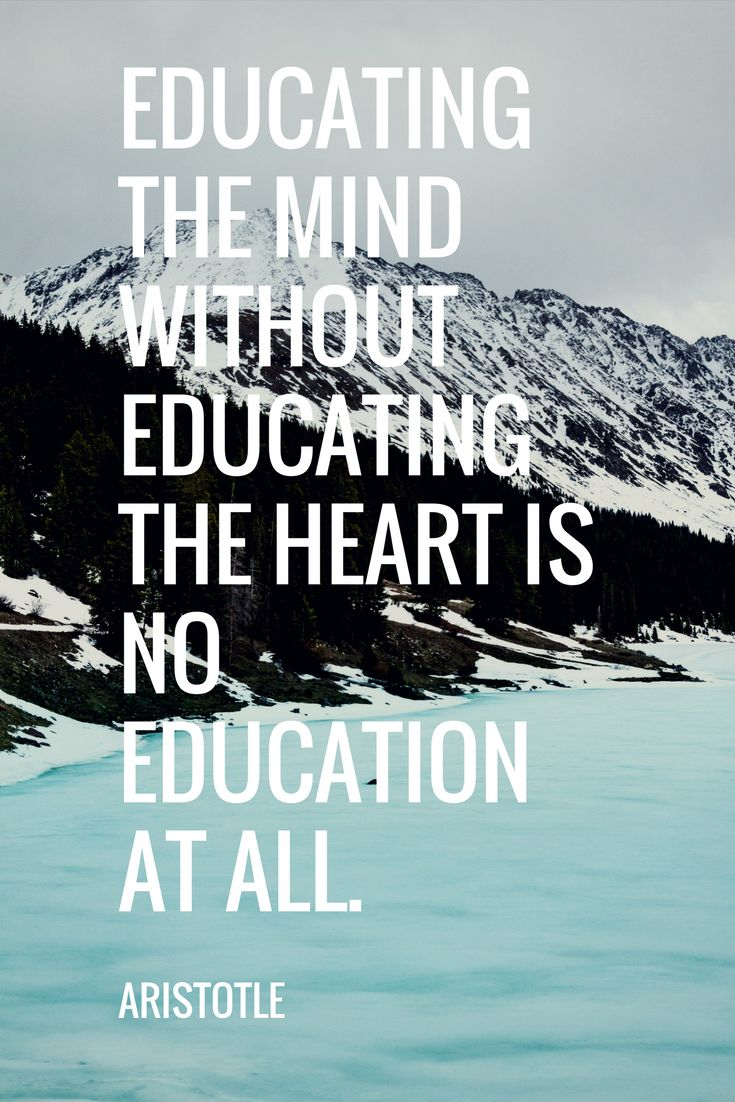 Adult education quote Educating the mind without educating the heart is no education at all.