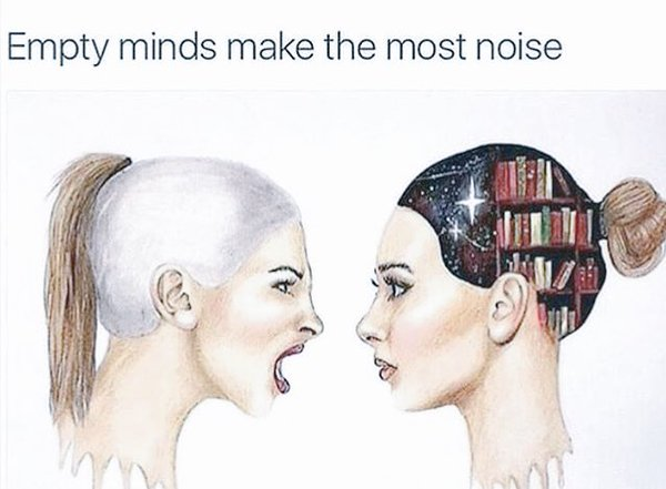 Thought quote Empty Minds Make The Most Noise!