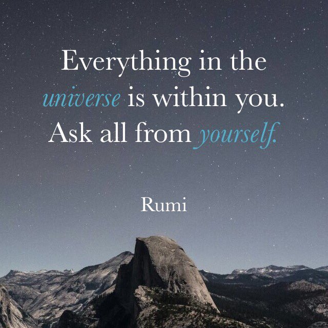 rumi dream quote image everything in the universe is whithin you