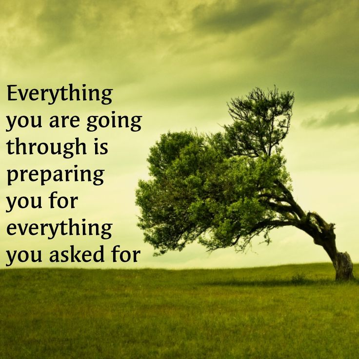 Desires quote Everything you are going through is preparing you for eveyrthing you asked for.