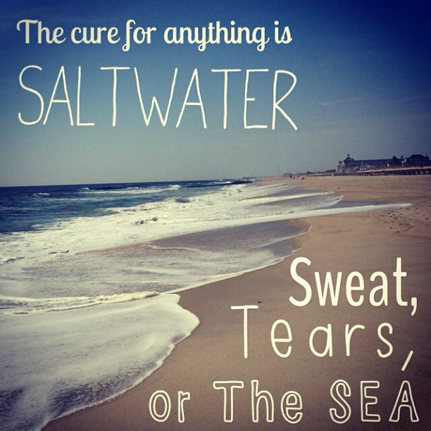 Cure quote The cure for anything is saltwater, sweat, tears, or the sea