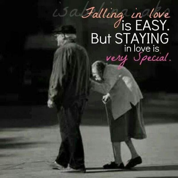 Rest easy quote Falling in love is easy but staying in love is very special.