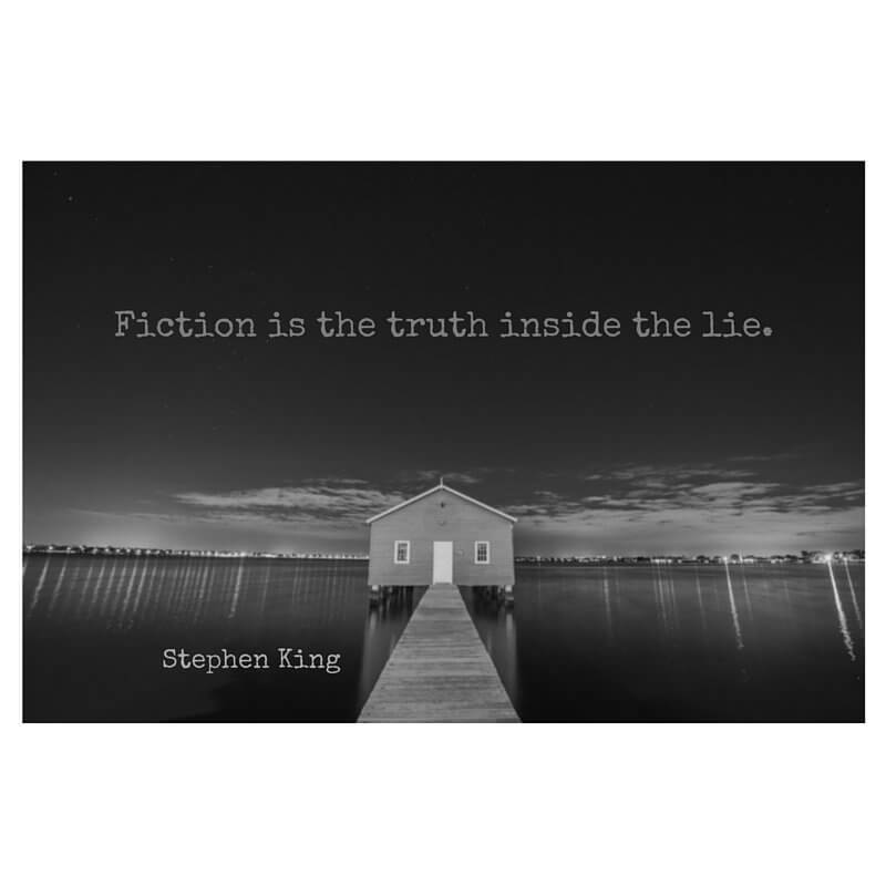 Crime fiction quote Fiction is the truth inside the lie.