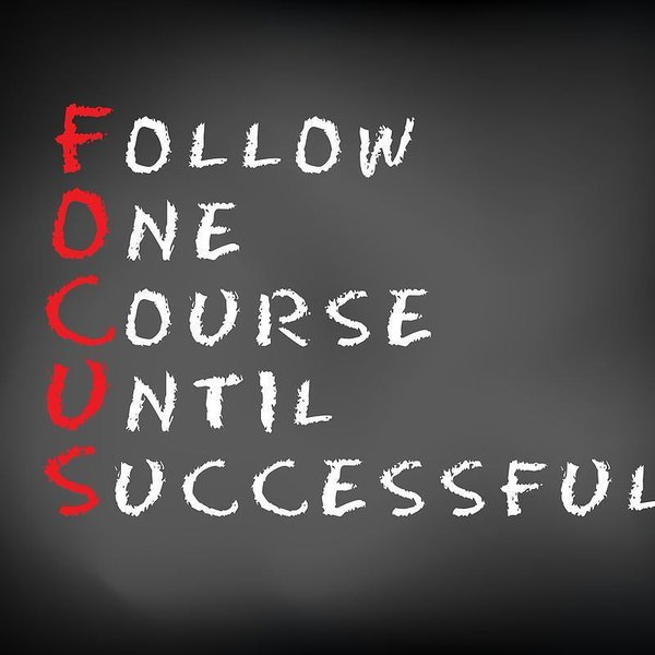 Courses quote Follow one course until successful.