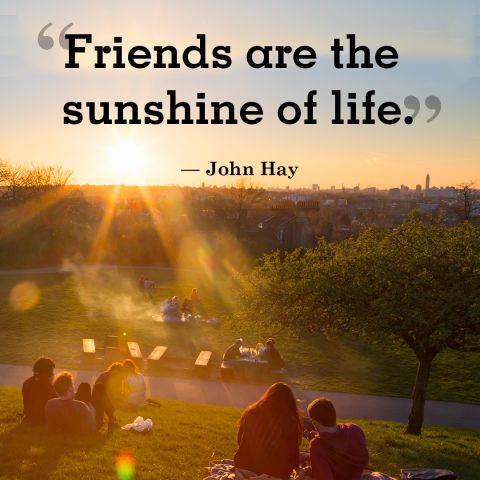 Suns quote Friends are the sunshine of life.