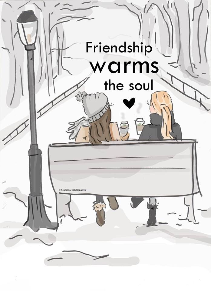 Warm quote Friendship warms the soul.