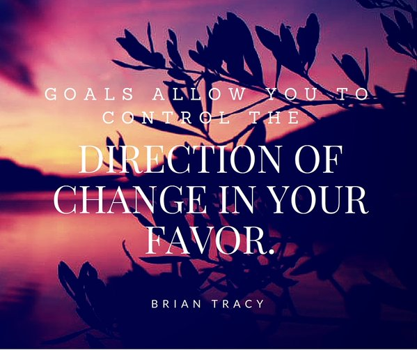 Favor quote Goals allow you to control the direction of change in your favor.