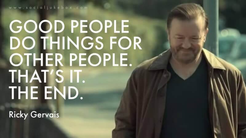 Good things quote Good people do things for other people. Thats it. The end.
