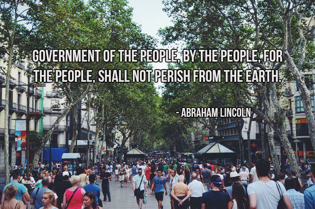 Picture quote by Abraham Lincoln about people