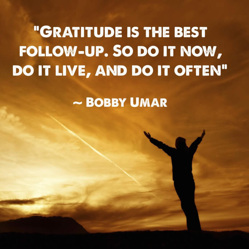 Picture quote by Bobby Umar about gratitude