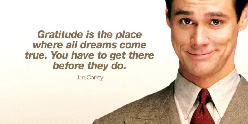 Picture quote by Jim Carrey about gratitude