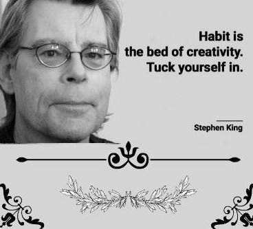 Picture quote by Stephen King about habit