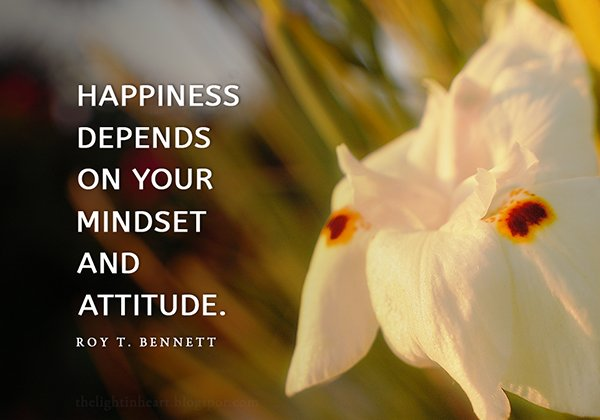 Depends quote Happiness depends on your mindset and attitude.