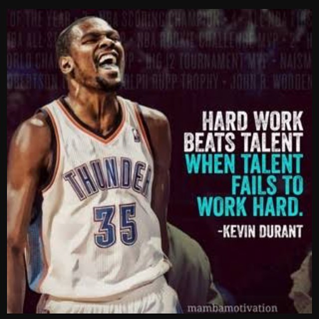 Talents quote Hard work beats talent, when talent fails to work hard.