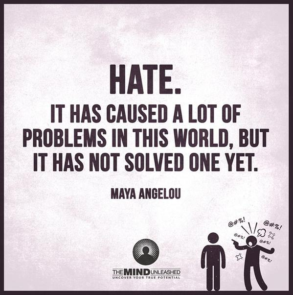 Causes quote HATE. Caused a lot of problems but not solved one!
