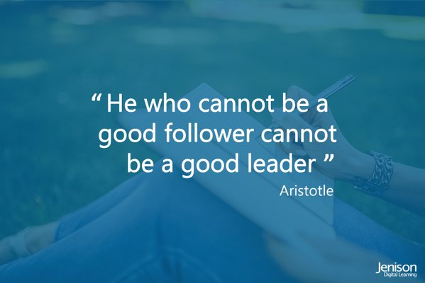 Should a good leader be a good follower?