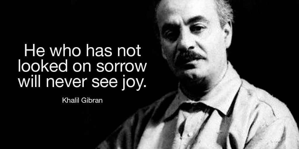 Sorrowing quote He who has not looked on sorrow will never see joy.